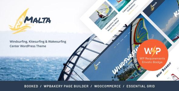 Malta - Windsurfing, Kitesurfing & Wakesurfing Center WordPress Theme - Travel Retail