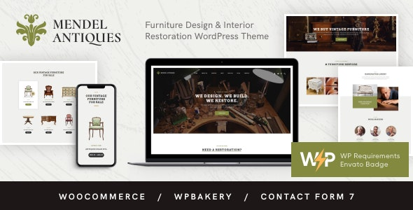 Mendel | Furniture Design & Interior Restoration WordPress Theme - Retail WordPress