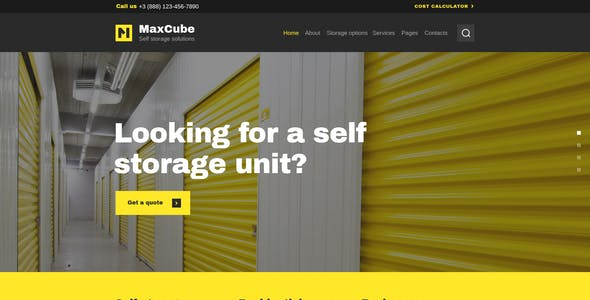 MaxCube | Moving & Self Storage Relocation Business WordPress Theme