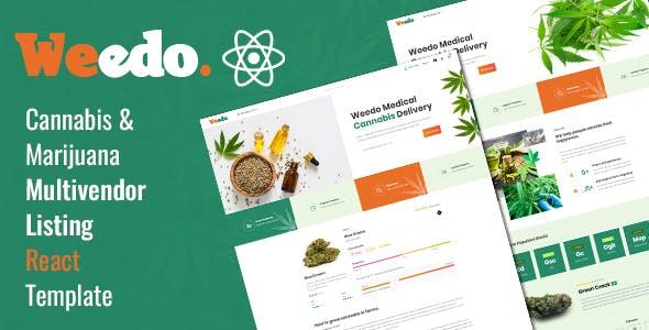 Weedo | Medcial Cannabis React Template