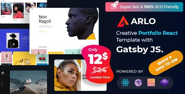 Arlo – Personal Portfolio React Template - Portfolio Creative