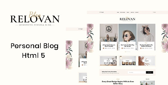 Relovan - Personal Blog HTML5 Template - Personal Site Templates
