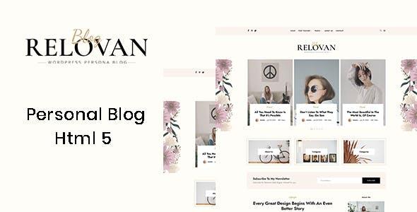 Relovan - Personal Blog HTML5 Template