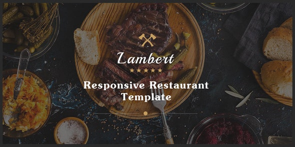 Lambert - Restaurant / Cafe / Pub Template - Restaurants & Cafes Entertainment