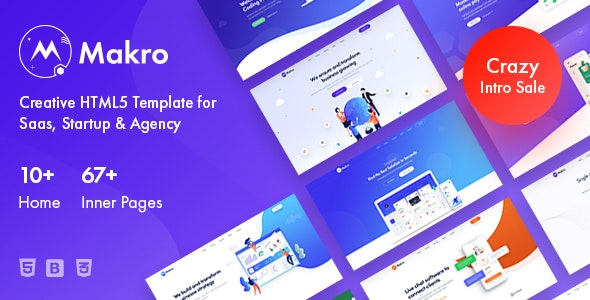 Makro - Creative HTML Template For Saas & Startup - Technology Site Templates