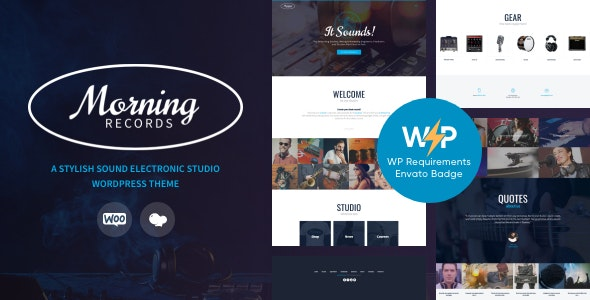Morning Records - A Stylish Sound Electronic Studio WordPress Theme - Music and Bands Entertainment