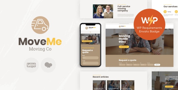 MoveMe | Moving & Storage Relocation Company WordPress Theme - Business Corporate
