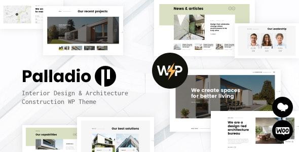 Palladio | Interior Design & Architecture Construction WordPress Theme - Business Corporate