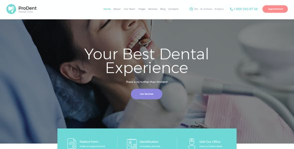 ProDent | Dental Clinic & Healthcare Doctor WordPress Theme + Elementor