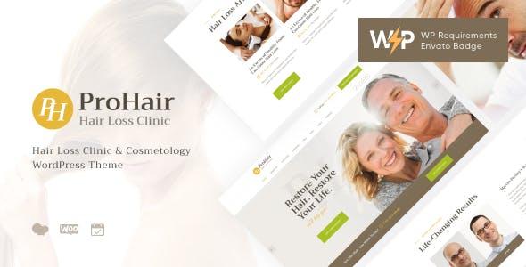 ProHair   Hair Loss Clinic & Cosmetology WordPress Theme