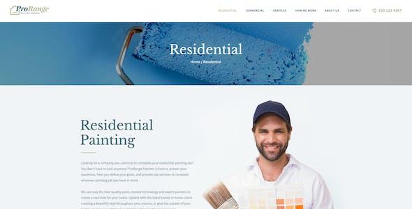 ProRange   Painting & Renovation Construction Company WordPress Theme
