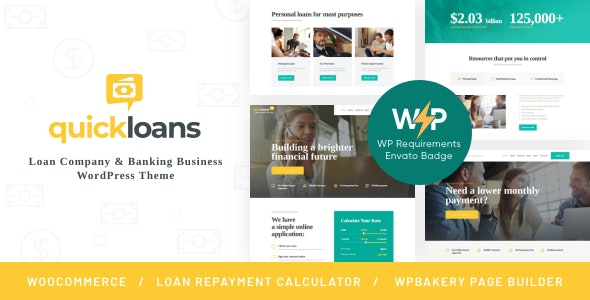 QuickLoans | Loan Company & Banking Business WordPress Theme - Business Corporate