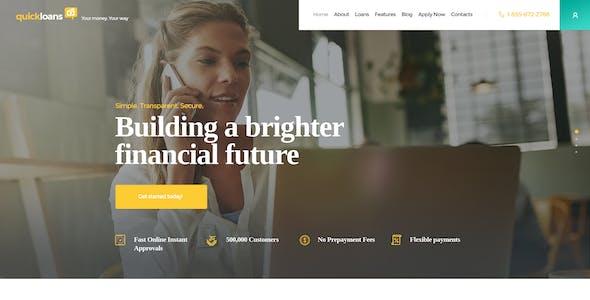 QuickLoans | Loan Company & Banking Business WordPress Theme