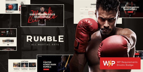 Rumble | Boxing & Mixed Martial Arts Fighting WordPress Theme - Entertainment WordPress