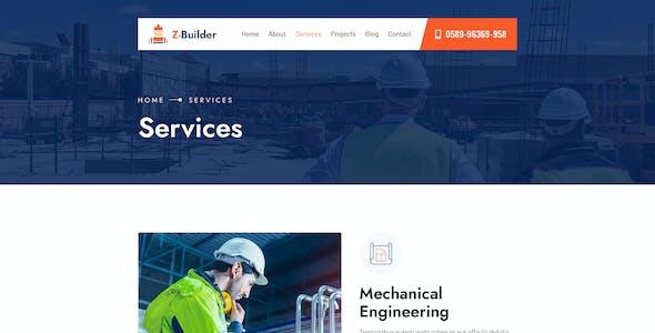 Z-Builder - Construction PSD Template