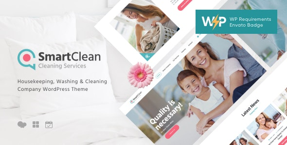 SmartClean | Housekeeping, Washing & Cleaning Company WordPress Theme - Business Corporate