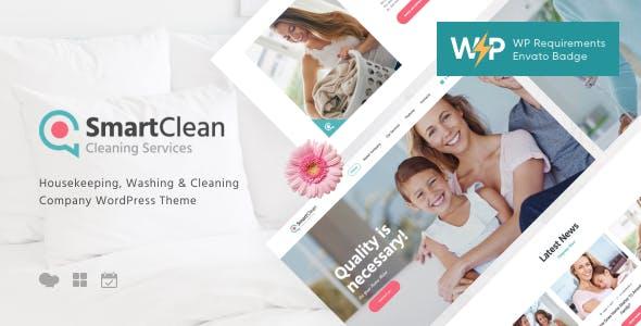 SmartClean | Housekeeping, Washing & Cleaning Company WordPress Theme