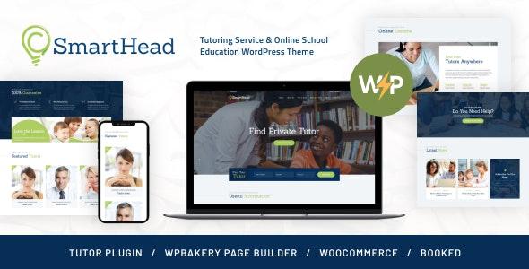 SmartHead | Tutoring Service & Online School Education WordPress Theme - Education WordPress