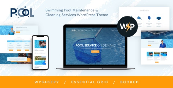 Swimming Pool Maintenance & Cleaning Services WordPress Theme - Business Corporate