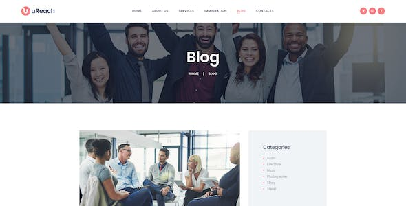 uReach | Immigration & Relocation Law Consulting WordPress Theme