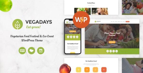 VegaDays - Vegetarian Food Festival & Eco Event WordPress Theme - Events Entertainment
