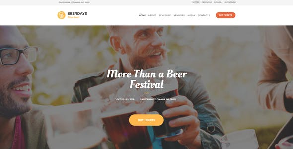 VegaDays - Vegetarian Food Festival & Eco Event WordPress Theme