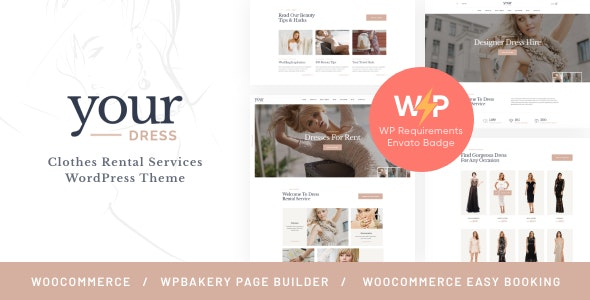 Your Dress   Clothes Rental Services WordPress Theme - Fashion Retail