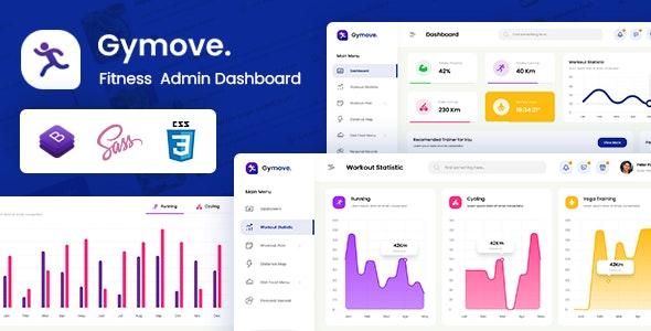 Gymove v1.0 – Fitness Admin Dashboard Bootstrap HTML Template