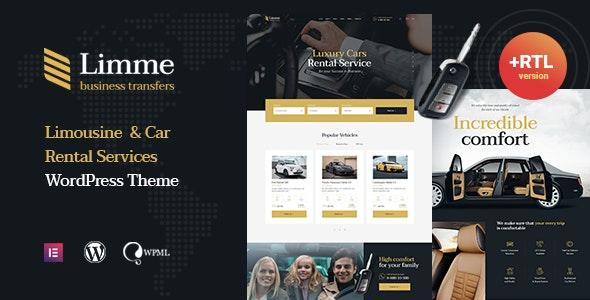 Limme - Limousine Transfers & Car Dealer WordPress Theme + RTL - Business Corporate