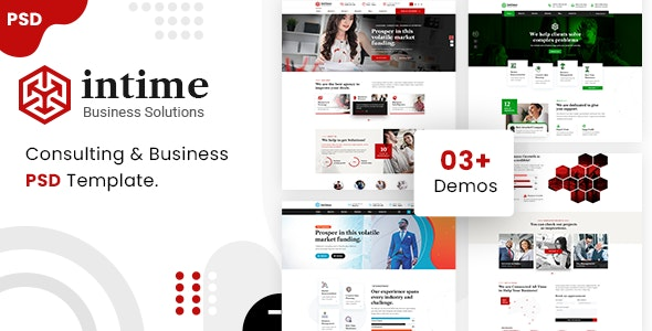 intime - Business and Consulting PSD Template - Business Corporate