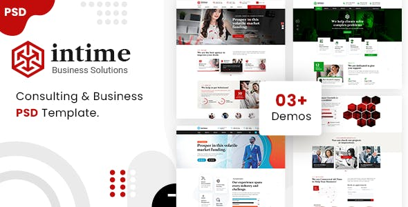 intime - Business and Consulting PSD Template