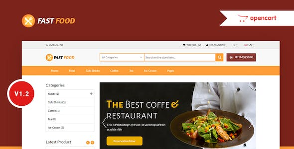 Drug, Organic & Food Store e-Commerce OpenCart 3.x Ready Theme