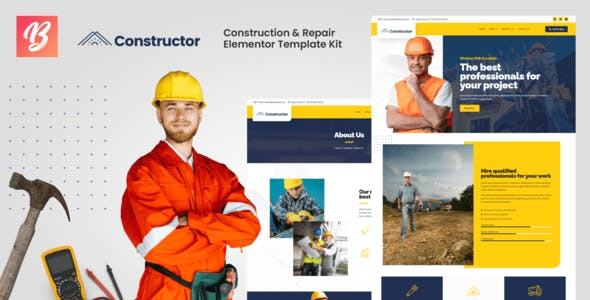 Constructor - Construction & Repair Elementor Template Kit