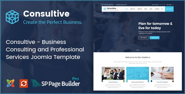 Consultive - Business Consulting and Professional Services Joomla Template - Business Corporate