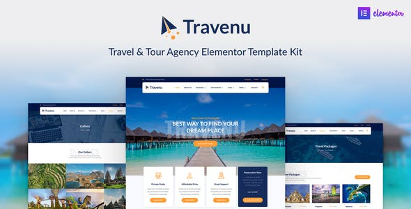 Travenu –  Travel & Tour Agency Elementor Template Kit