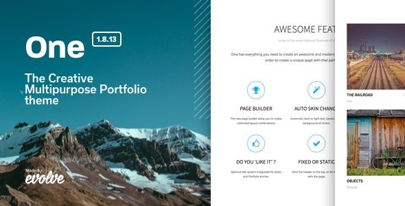 One - The Creative Multipurpose Portfolio theme - Creative WordPress