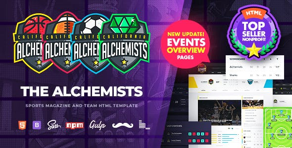 Alchemists - Sports, eSports & Gaming Club and News HTML Template