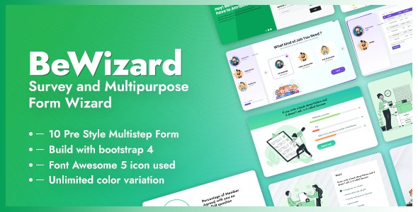 BeWizard - Survey Poll Quiz & Application Multistep Form - Miscellaneous Specialty Pages