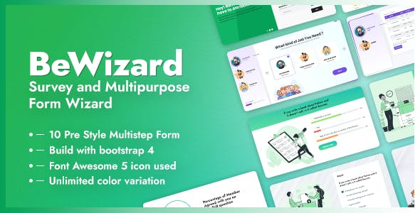 BeWizard - Survey Poll Quiz & Application Multistep Form