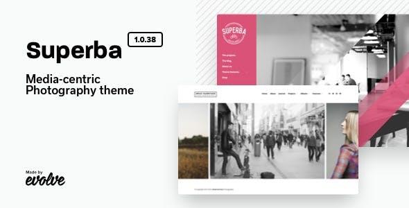 Superba: Media-centric Photography WordPress Theme