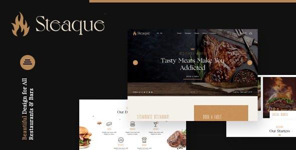 Steaque   Steak House and Coctail Bar Joomla Template
