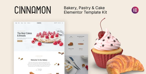 Cinnamon - Bakery & Pastry Shop Elementor Template Kit