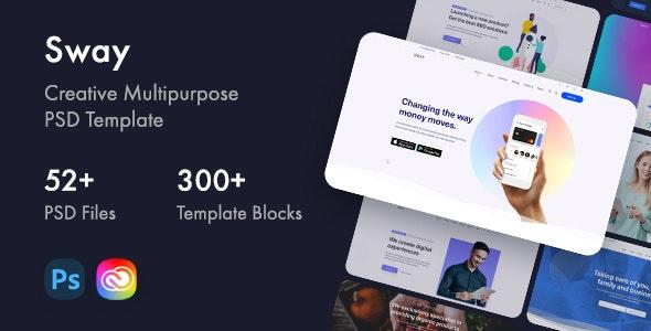 Sway - Creative Multipurpose PSD Template - Creative Photoshop
