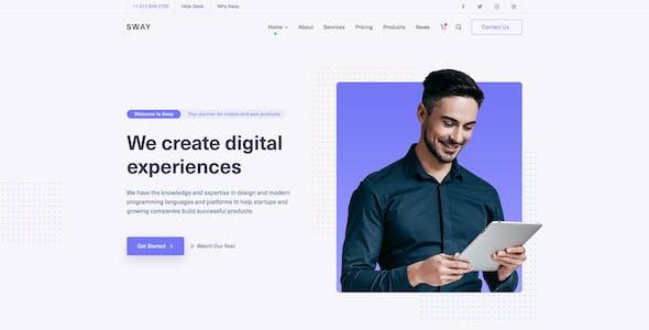 Sway - Creative Multipurpose PSD Template
