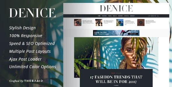 Denice - A Responsive WordPress Blog Theme