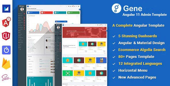 Angular 11 Admin Template with Material Design