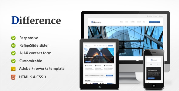 Difference - Responsive Business Template - Business Corporate