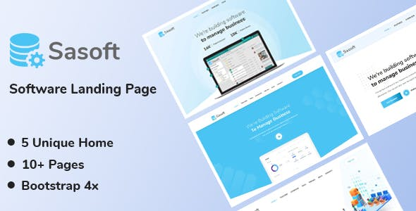 Sasoft - Software Landing Page