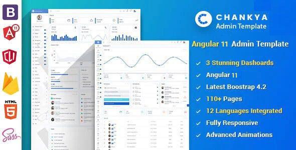 Angular 11 Bootstrap 4 Admin Template