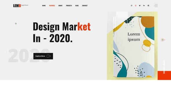 Lemb - Creative Portfolio PSD Template